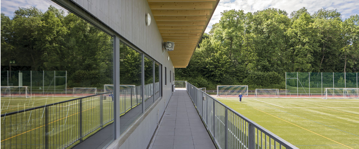 Balkon Garderobengebäude
