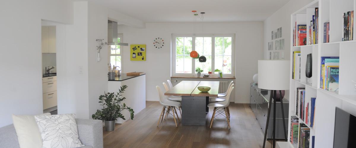 Wohnraum und Küche neu