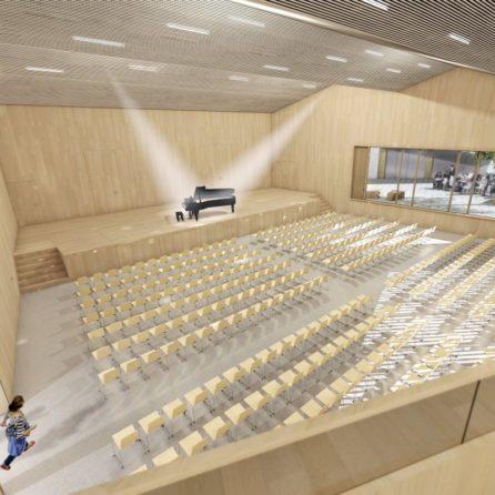 Visualisierung Gemeindesaal Arlesheim