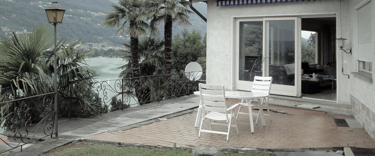 Terrasse Ferienhaus vor Sanierung