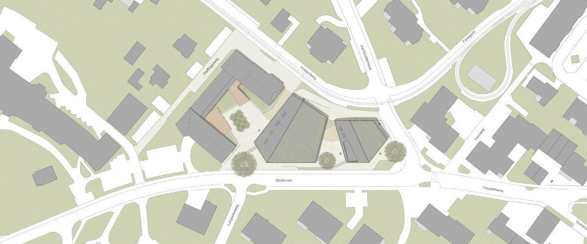 Gemeindesaal Situation, ©K2 Architekten Basel