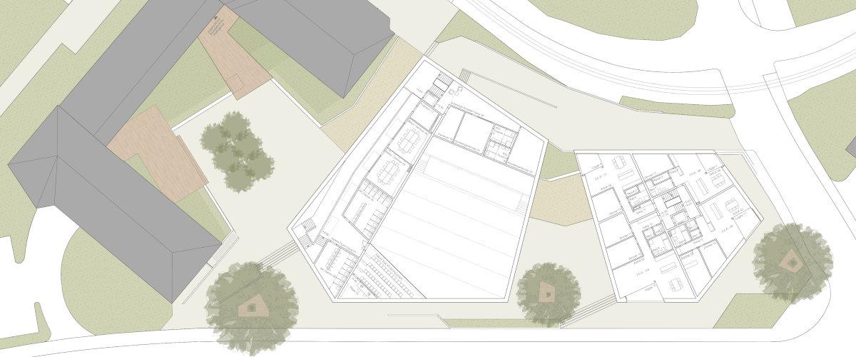 Gemeindesaal Grundriss OG, ©K2 Architekten Basel