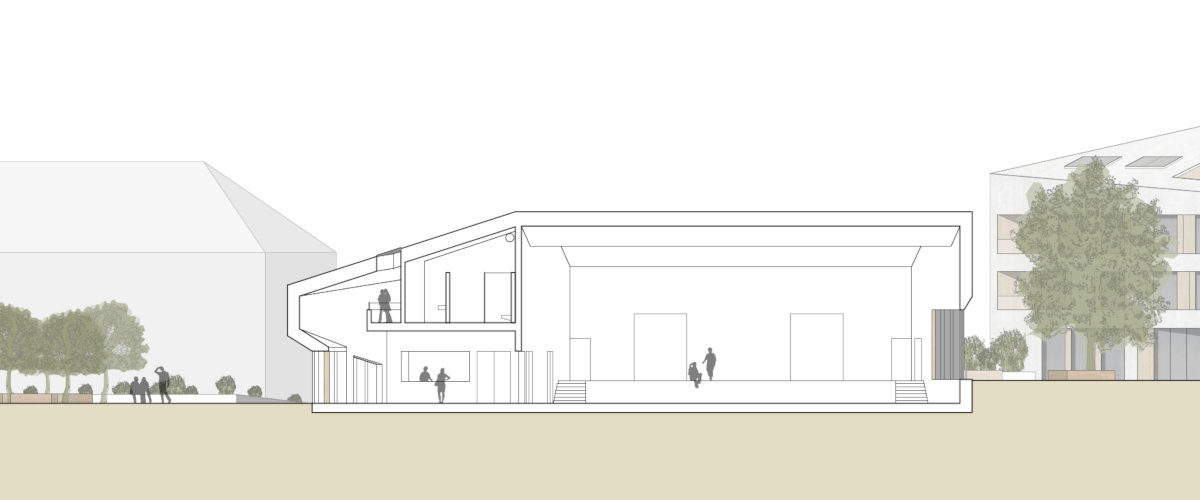 Gemeindesaal Querschnitt, ©K2 Architekten Basel