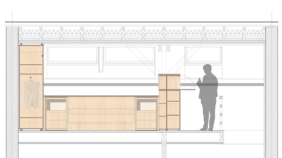 Dachausbau EFH Binningen - Detailplan
